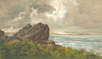 Early 20th Century Oil - Coastal Landscape