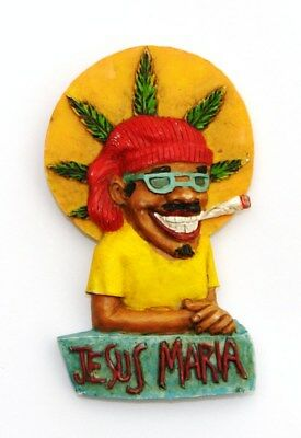 Fridge Magnet 3D Souvenir Jesus Maria Jalisco Mexico Mexican Man With Big Smile