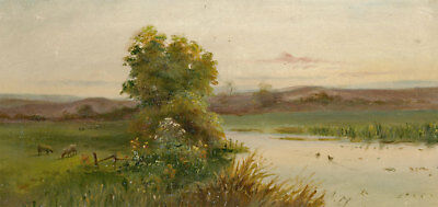 Early 20th Century Oil - River Landscape