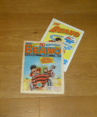Beano 50th birthday issue, with poster, 1988