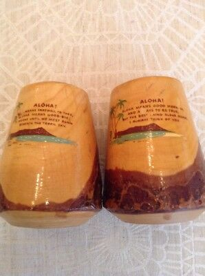 vintage hawaiian salt & pepper shakers