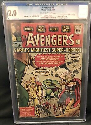 The Avengers #1 CGC 2.0. Origin And 1st App of The Avengers!