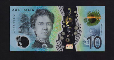 Australia – P#new 10 Dollars (2017) Polymer new Series Uncirculated Banknote.