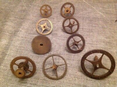 LONGCASE CLOCK PARTS 9 COGS COUNT 43 52 2x53&54 58 60 & 72mm  CLOCKMAKERS SPARES