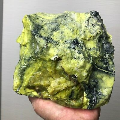 NEW!!! TOP QUALITY SOLID GREEN SERPENTINE ROUGH 6.5 lb - FROM  PERU