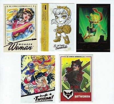 Cryptozoic DC Bombshells II 100 card mini master set with base and inserts