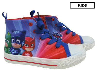 PJ Masks Boys Canvas High Laces Shoes - Multi