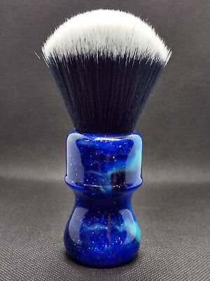 Yaqi 26MM Fan shape  Mysterious Space Color Handle Tuxedo Knot Shaving Brush