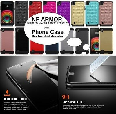 NP ARMOR Tempered GLASS Screen Guard Protector + MET Phone Case For ALCATEL