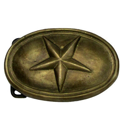 Antique Brass STAR Civil War Soldier US Army Soldiers Belt Buckle arrow hooks