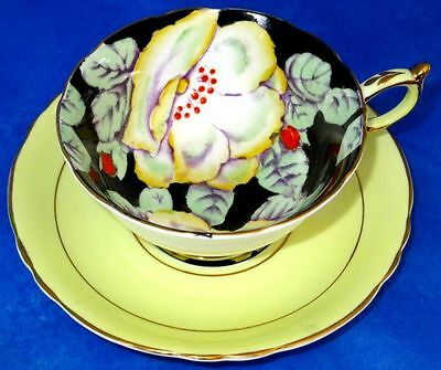 Paragon Exquisite Hand Painted Yellow Gardenia Flowers G1658 Cup & Saucer