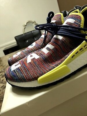 218a612d0837f Pharrell Adidas NMD Human Race HU Trail Multi Color Size 13 Brand New AC7360