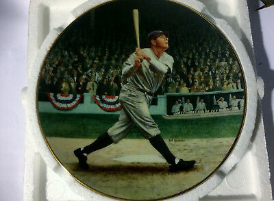 1992 Delphi Babe Ruth The Called Shot Limited Edition Numbered Collectors Plate