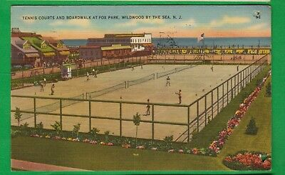Wildwood by the Sea, NJ/ Tennis courts and Boardwalk at Fox Park/players/ pc