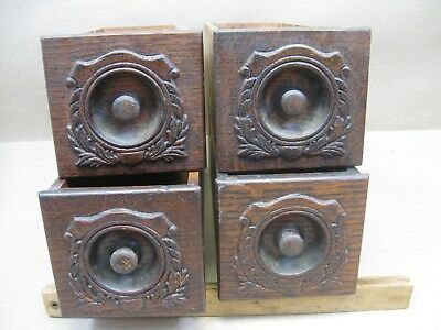 Antique Singer Treadle Sewing Machine 4 Drawers Only w/ Applied Carvings
