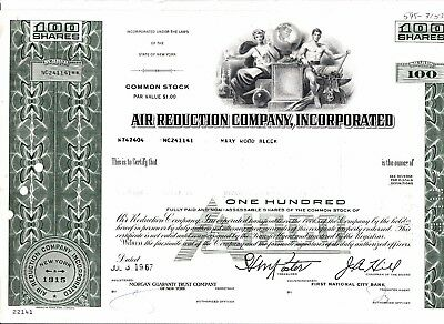 Air Reduction Company, Incorporated vom 03.07.1967 über 100 shares