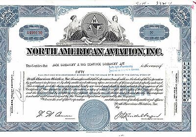 North American Aviation, Inc. über 50 shares, 20.12.1963, 1996 von Boing gekauft
