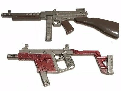 "PUBG-(21+22): 1/12 metal Thompson & Vector Toy Guns for 6"" ~ 8"" action figures"