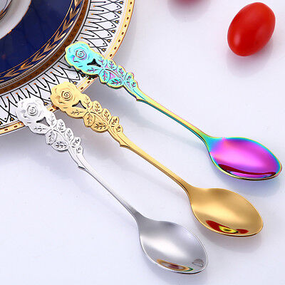 Coffee Tea Spoon Crystal Head Mixing Spoons Vintage Kitchen Party Tool u8St