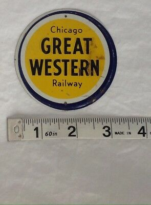 Small Metal Railroad Sign   - Chicago Great Western Railway