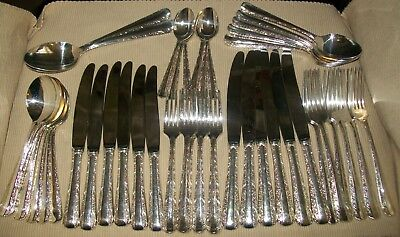 VINTAGE 44pc RODD SILVERPLATE 'NEMESIA' CUTLERY SET (6 person)