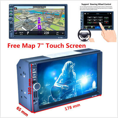 """2Din 7"""" Car GPS Navigation Free Map Bluetooth Stereo FM Radio MP5 Player Android"""