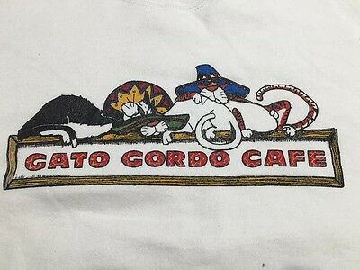 vtg 80s gato gordo cafe cayo hueso KEY WEST FLORIDA SWEATSHIRT Sloppy Joes XL