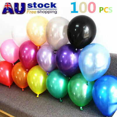 100x Latex Pearl Helium Balloons Balloon Party Air Wedding Birthday Large 30cm