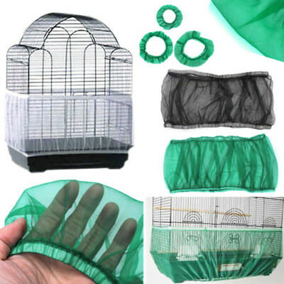 2 Sizes Seed Catcher Guard Mesh Bird Cage Tidy Cover Skirt Traps Cage Basket