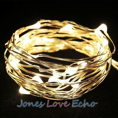 Battery Powered Copper Wire 30 Led String Fairy Light 3M/9FT Warm White US New