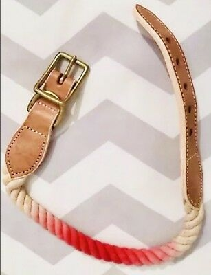 ⭐️ CREWCUTS ⭐️ Baby Girl's Small Hot Pink & Beige Leather Rope Buckle Belt 21""