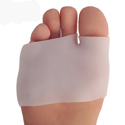 2PCS Silicone Half Toe Sleeve Metatarsal Pads Gel Toe Caps Forefoot & Bunion Hot