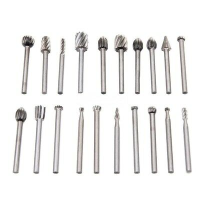 20PCS Routing Router Grinding Bit Burr Speed Kit For Rotary Dremel Cutter Tool