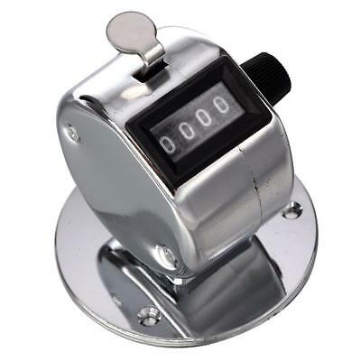 Round Base 4 Digit Manual Hand Tally Mechanical Palm Click Counter H-Q