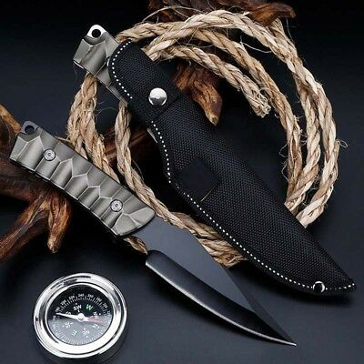 """9"""" Fixed Blade Knife Tactical Pocket Blade Open Outdoor Survival Hunting EDC"""