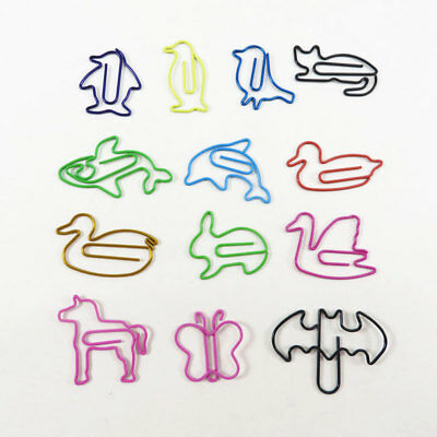 DIY Office School Metal Books Cartoon Animal Paper Clip Bookmarks Reading Mark