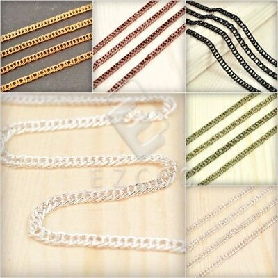 4m Open Link Unfinished Curb Chain Bulk Necklace Jewelry Findings DIY PWCH122
