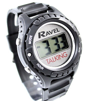 Ravel Mens Ladies Digital Talking Watch Partially Sighted Impaired Vision Aid