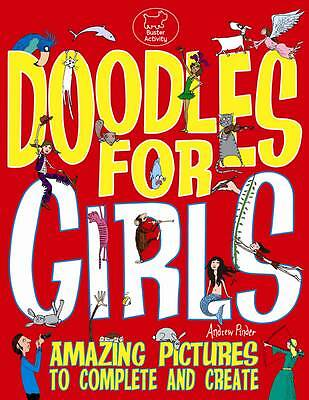 DOODLES FOR GIRLS by Andrew Pinder : WH4-B149 : PB183 : NEW BOOK