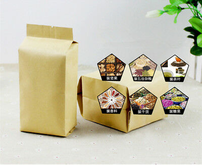 25/50PCS Stand Up Kraft Paper Self Sealing bag food opaque Packaging Pouches NEW