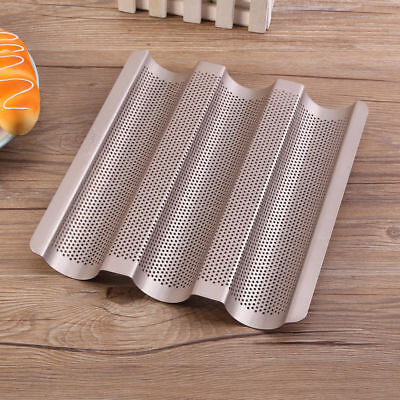 1pc Perforated Baguette Pan French Bread Tray Wave Loaf Baking Mould DIY Tools