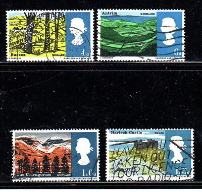 GREAT BRITAIN #454-457  1966  LANDSCAPES  F-VF   USED  b