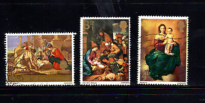 GREAT BRITAIN #522-524  1967  CHRISTMAS    F-VF  USED  c
