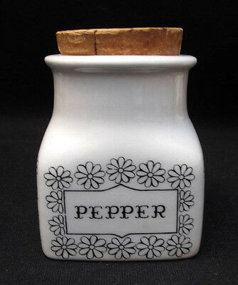 Vintage Arabia Finland Pepper Spice Jar Cannister Retro Scandinavian Design