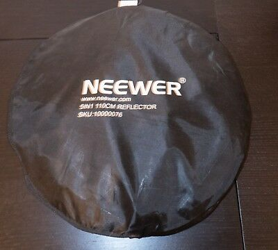 'Neewer 5-in-1' 110cm Light Reflector: gold/silver/black/white/translucent