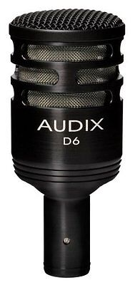 Audix*D6* Dynamic Cardioid Microphone NEW FREE 2 DAYSHIPPING