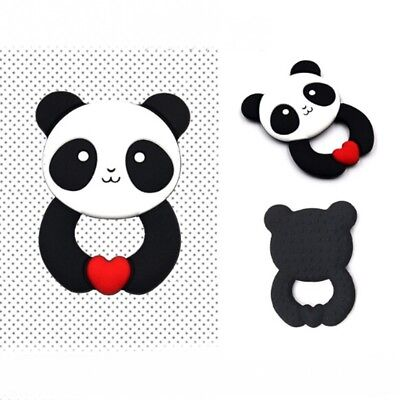 Silicone Panda Baby Teether Ring Molar Pacifier Chew Toy Teething Pendant New #F