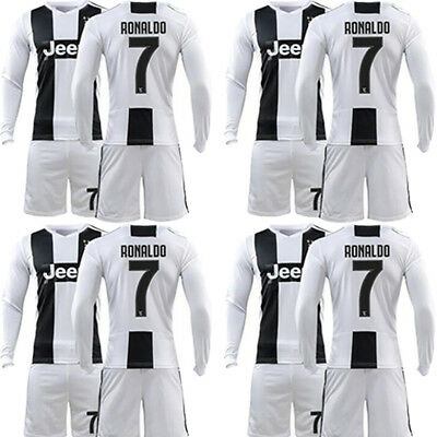 2018-19 Football Kids New Long Sleeve Jersey Sport Outfit Kit 3-12 YRS + Socks