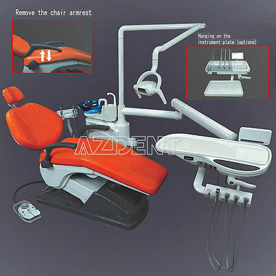 Dental Unit Chair Computer Controlled w/Syringe Handpiece Tubing Auto Water