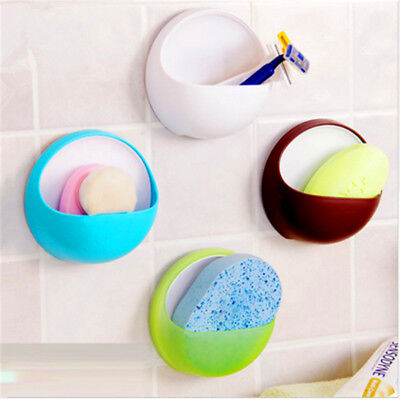 Home Bathroom Toothbrush Wall Mount Holder Sucker Sticker Toothpaste Storage New